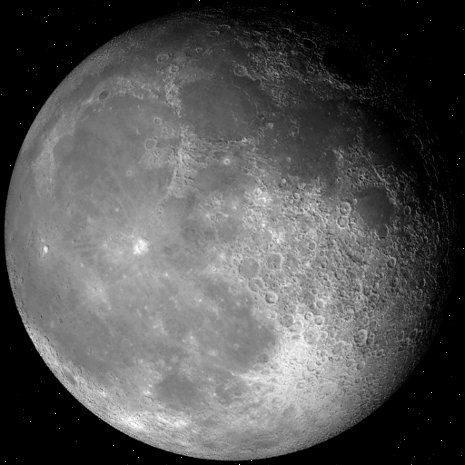 Actual moon image from the app